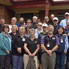 The Club's brains trust - Committee, Chapter Captains and partners at the Todds' house in Sunbury