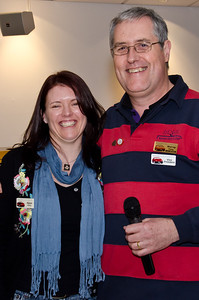 20-year membership pin recipient, Alyssa Finlay, with life member Murray Finlay
