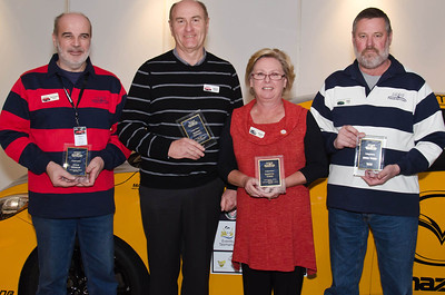 Outgoing committee members (l-r) Steve Dunlop, Robert Downes, Janette Todd, John Todd