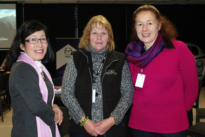 Saeko Fujiki, Dawn Everett and Bronwyn Roche