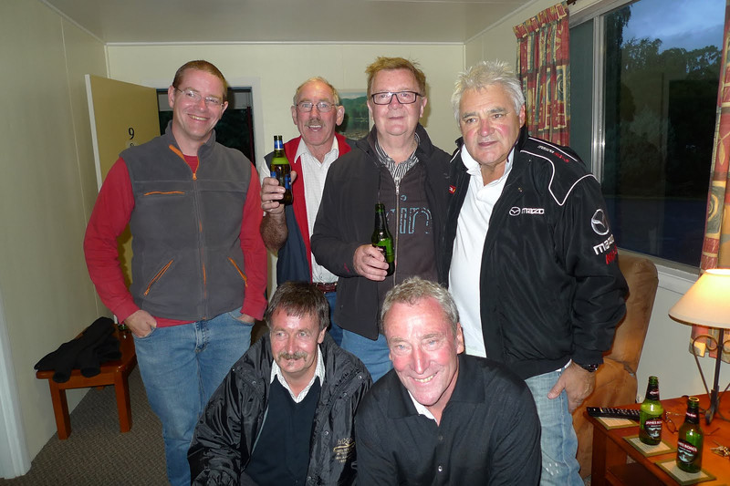 Michael Nolan (standing, right), 2012-13 Northern Tasmania Chapter Champion