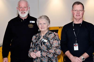15-year membership pin recipients Ken & Joan Read and Barry Hollands