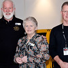 15-year membership pin recipients Ken & Joan Read and Barry Hollands