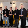 Five-year membership pin recipients (l-r): Peter Dannock, Linda & Don Nicoll, Noellene & John Gleeson, Max Lloyd and Ben Sale