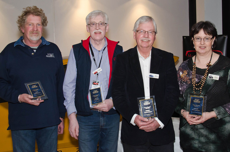 2012-13 Chapter Champions (l-r): Rob Krygsman (Eastern Vic), Dave Collins (Central), Gerry Engwerda (North-Eastern Vic), Karen Bradshaw (Western Vic)