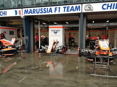 In F1 pit lane