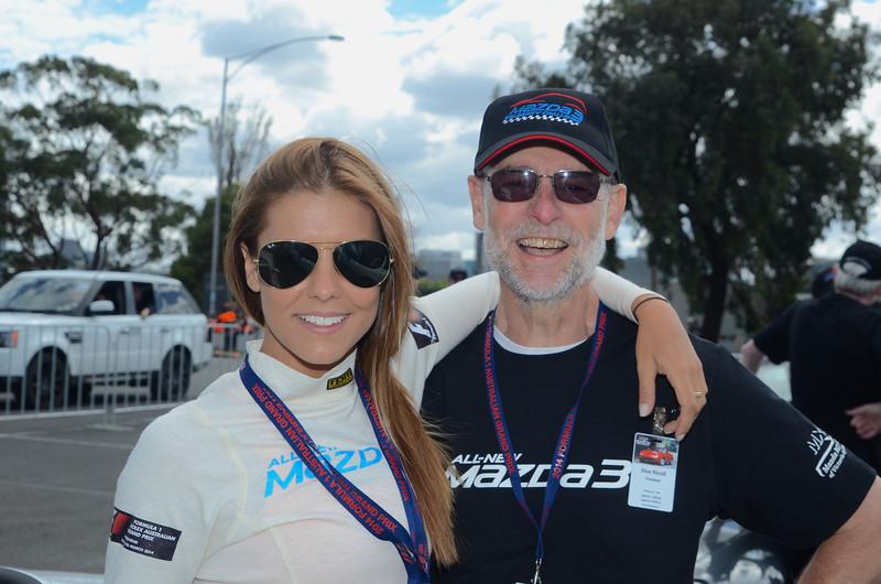 Mazda3 ambassador Lauren Phillips with Don Nicoll
