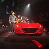 A proud Derek Jenkins, Mazda North America's Director of Design