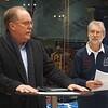 Mazda Australia MD Martin Benders addresses the group