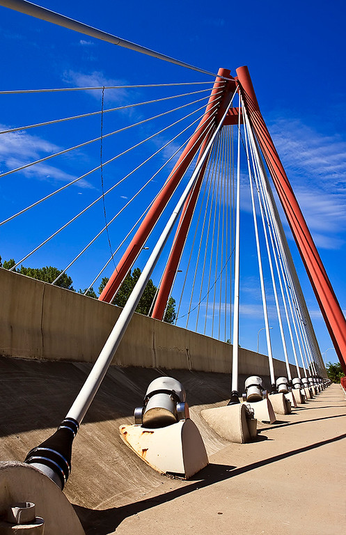 """November Competition 3 - 1st Place - Class A - Assigned Category """"Unusual Perspective"""" - Title: """"Suspension Bridge"""" - Dave Wensits"""
