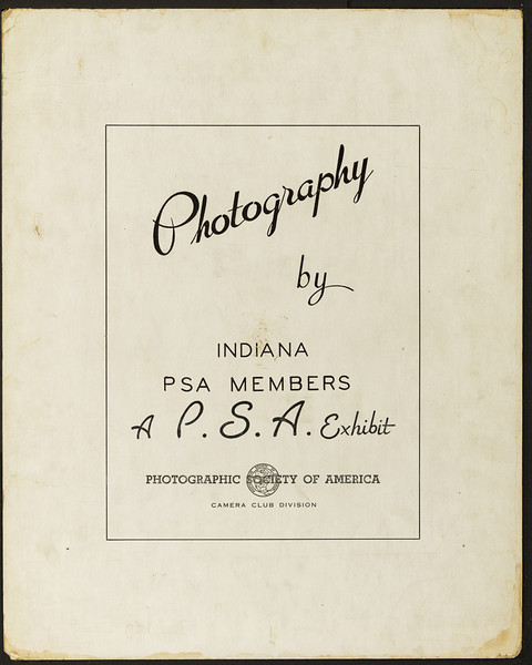 Indianapolis Camera Club Archive Photo