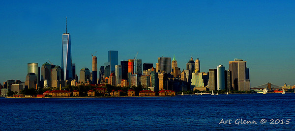 Lower Manhattan Sunset  Art Glenn