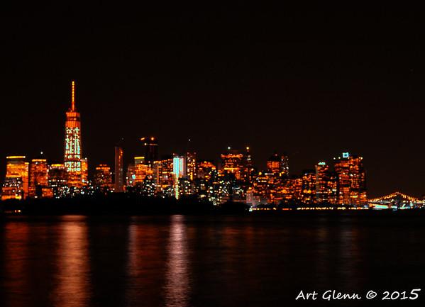 Infrared Gotham Skyline.  Manhattan Night - Art Glenn