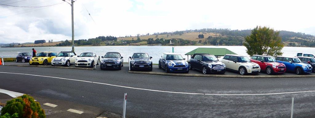 P1000696  - MINI Collection at Rosevears Waterfront Tavern, TAS