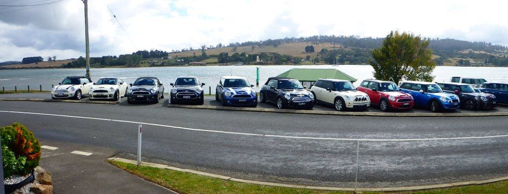 P1000695 - MINI Collection at Rosevears Waterfront Tavern, TAS