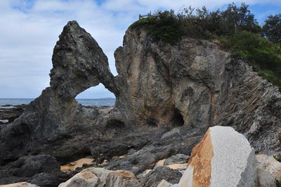 Reverse Australia Hole in the Rock, Narooma, NSW (South Coast)