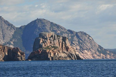 Landscape along the coastline of the Freycinet National Park, TAS