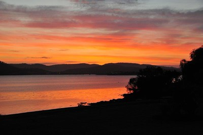 Sunset in Hobart, Australia