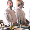 Chef Leondro Diaz, Cookers and Friends, Culinary Club Director, Dominican Republic (right) and hosting Chef Bernard Guillas, Executive Chef La Jolla Beach & Tennis Club<br /> The Marine Room, La Jolla, California