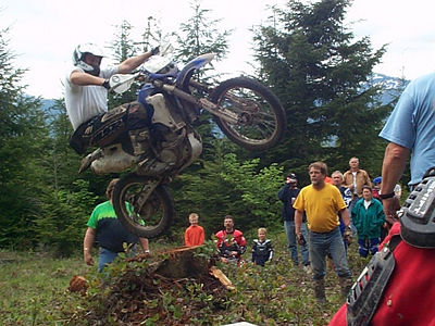 """up, up and away...""   Were not called Stumpjumpers for nothing. Check out the action at the 2005 Stump Jump Competition. Many attempted, ""But there can be only one!"""