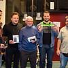 De winnaars : Nicolas, Luc, Jacques, Jef en Daniel