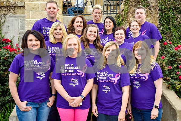 The Komen Race for the Cure committee poses for a photo at El Charro on the Ridge in Tyler, Texas, on Tuesday, May 2, 2017.  (Chelsea Purgahn/Tyler Morning Telegraph)