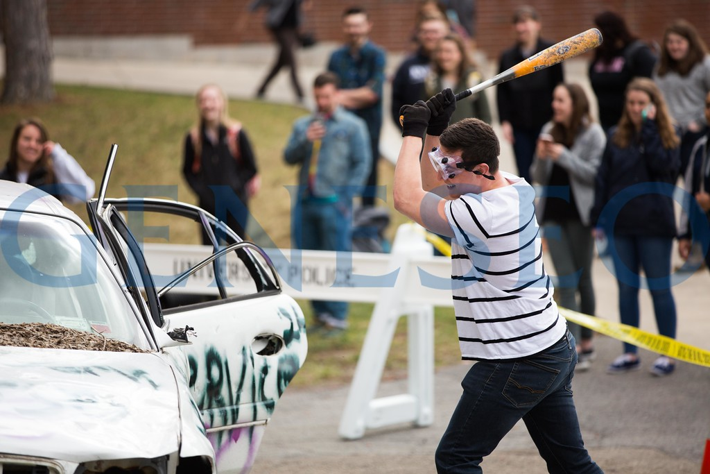 Spring 2017 Car Smash fundraiser for Relay for Life Colleges Against Cancer, KW
