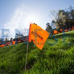 sexual assault awareness month flag planting