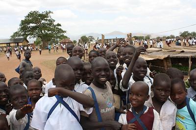 Happy kids in Kitgum school