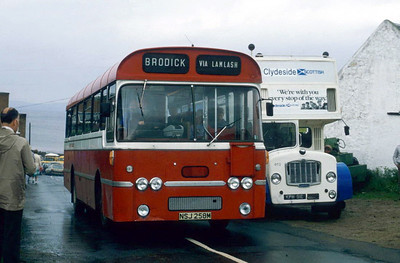 Arran Transport NSJ258M Blackwaterfoot Jul 85