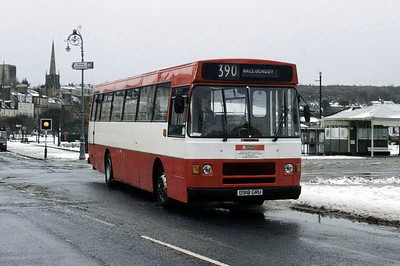 Arran Transport D918GRU Guildford Sq Rothesay Feb 93