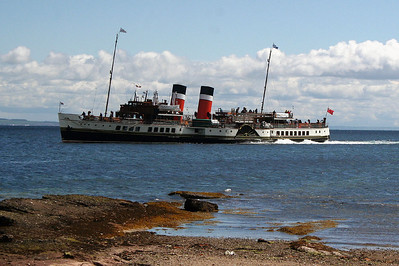 PS Waverley leaving Brodick with late morning departure. 27 June 2007