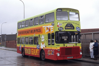 Clydeside 2000 895 Goven Bus Station Aug 92