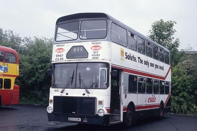 Clydeside 2000 912 Thornliebank Depot May 93