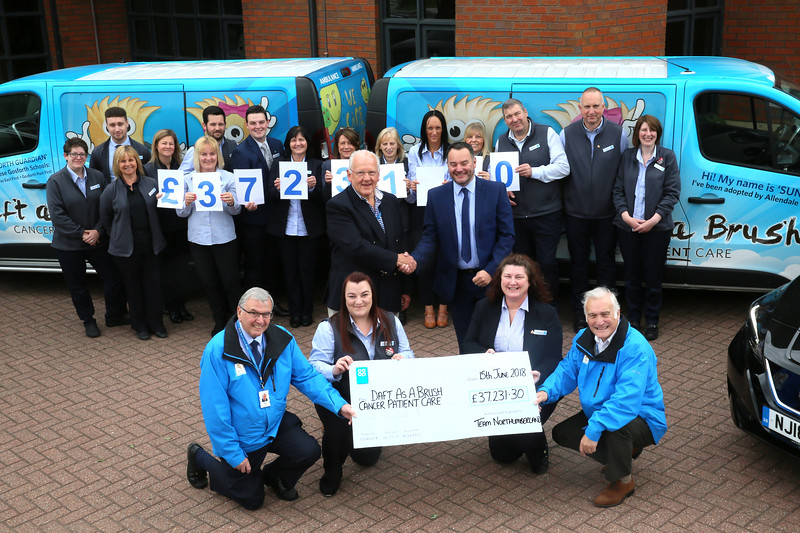 Northumberland Co-Op branches help Daft as a Brush