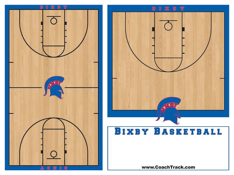 Bixby Basketball 3x4 feet OUTLINES