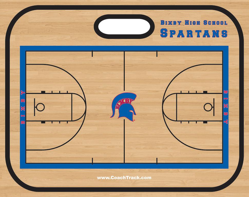 TekBoard 4000 Basketball Bixby HS Wood reva Side 1