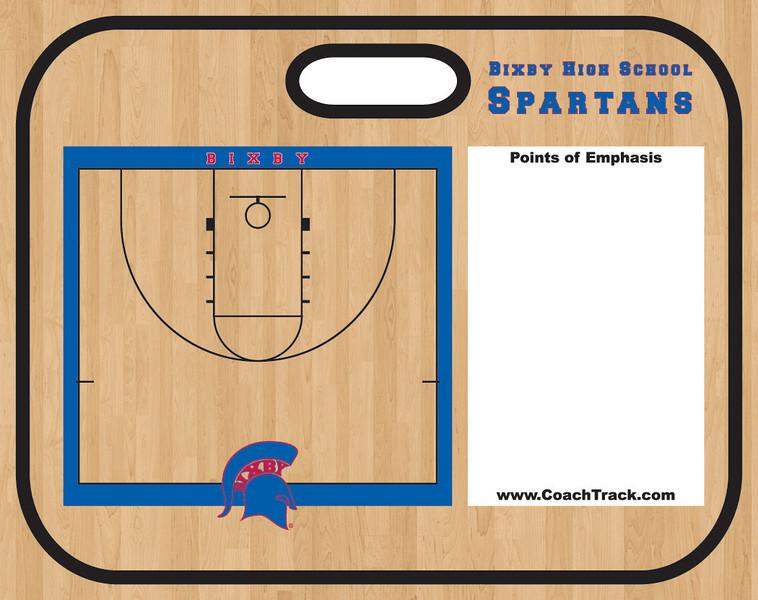 TekBoard 4000 Basketball Bixby HS Wood reva Side 2