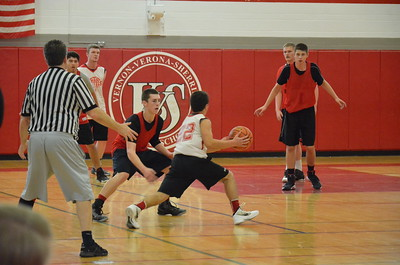 Andrew Aurigema - Oneida Daily Dispatch Local teams compete in the Coaches vs. Cancer fundraiser scrimmage on Saturday, Nov. 19, 2016.
