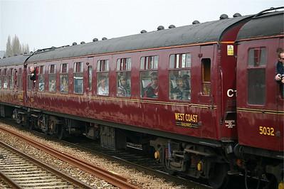 West Coast Railway Co. 5035 passing Exeter St Thomas