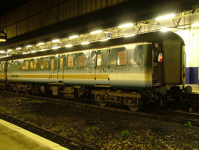 Mk2D BSO(D) 9481 at Exeter St Davids as part of the Night Riviera