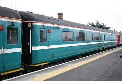 Mk2F BSO 9527 at Taunton - in Anglia livery but working for First Great Western
