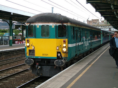 Mk2F DBSO 9701 in Anglia livery, at Ipswich, 2nd Aug 2006