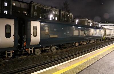 New MK5 Caledonian Sleeper Coach 15001 seen at Kensington Olympia on 6Q72 Dollands Moor-Polmadie   15/01/18
