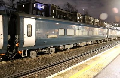 New MK5 Caledonian Sleeper Coach 15002 seen at Kensington Olympia on 6Q72 Dollands Moor-Polmadie   15/01/18