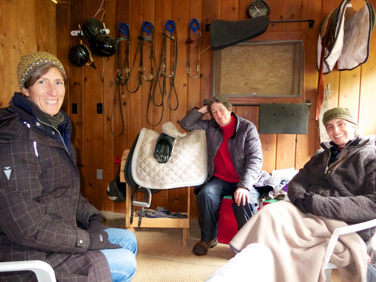 Mandy Blake coaching with horses