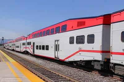 Caltrain Car 234 in San Jose  07/06/10