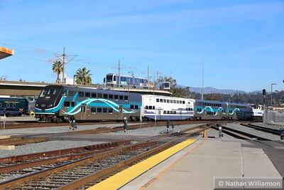 Metrolink Cab Car 650 arrives into Los Angeles Union  02/02/15