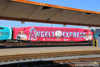 203 wearing advertising livery arrives into Los Angeles Union  02/02/15