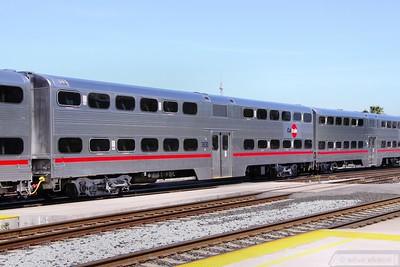 Caltrain Car 3830 in San Jose  07/06/10